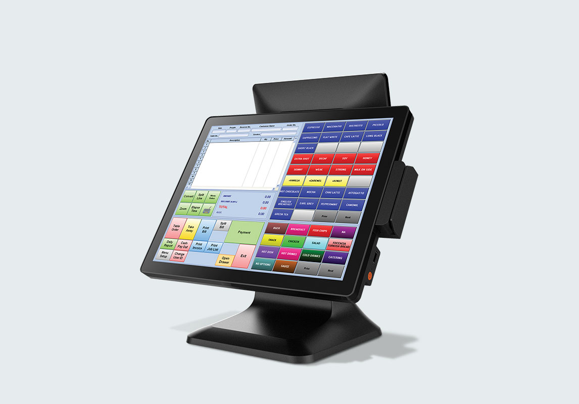 Varipos touch screen terminals