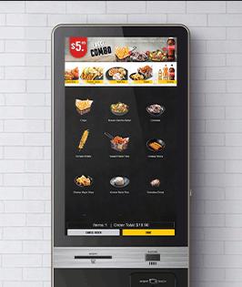 Customer self ordering kiosk