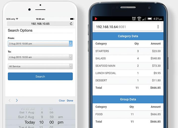 ScalePOS iPhone Report